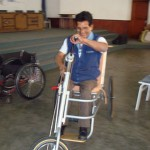 Trike testing by a potential user