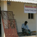 Building trikes at Immanuel Coe Vocational Training Center, Hyderabad, India