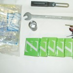 Trike parts, chains, tools